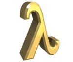 simbolo lambda in oro